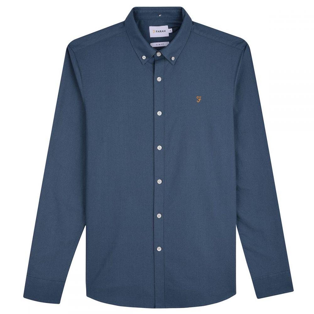 ファーラー Farah メンズ トップス シャツ【Brewer Longsleeve Shirt】dark blue