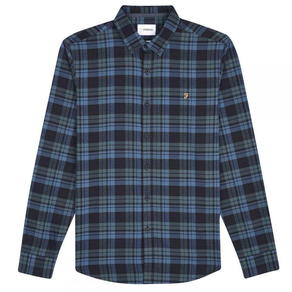 ファーラー Farah メンズ トップス シャツ【Long Sleeve Checked Shirt】blue