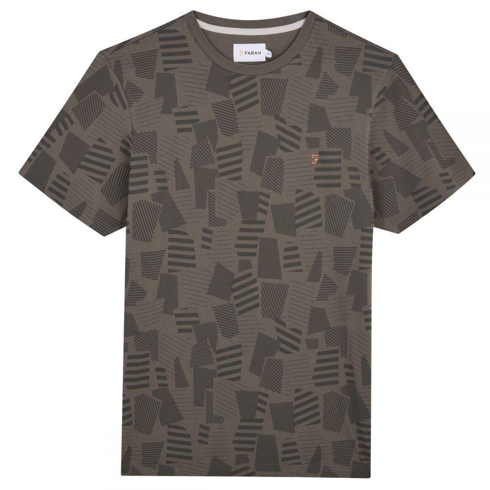 ファーラー Farah メンズ トップス Tシャツ【Riverside Printed T-shirt】green