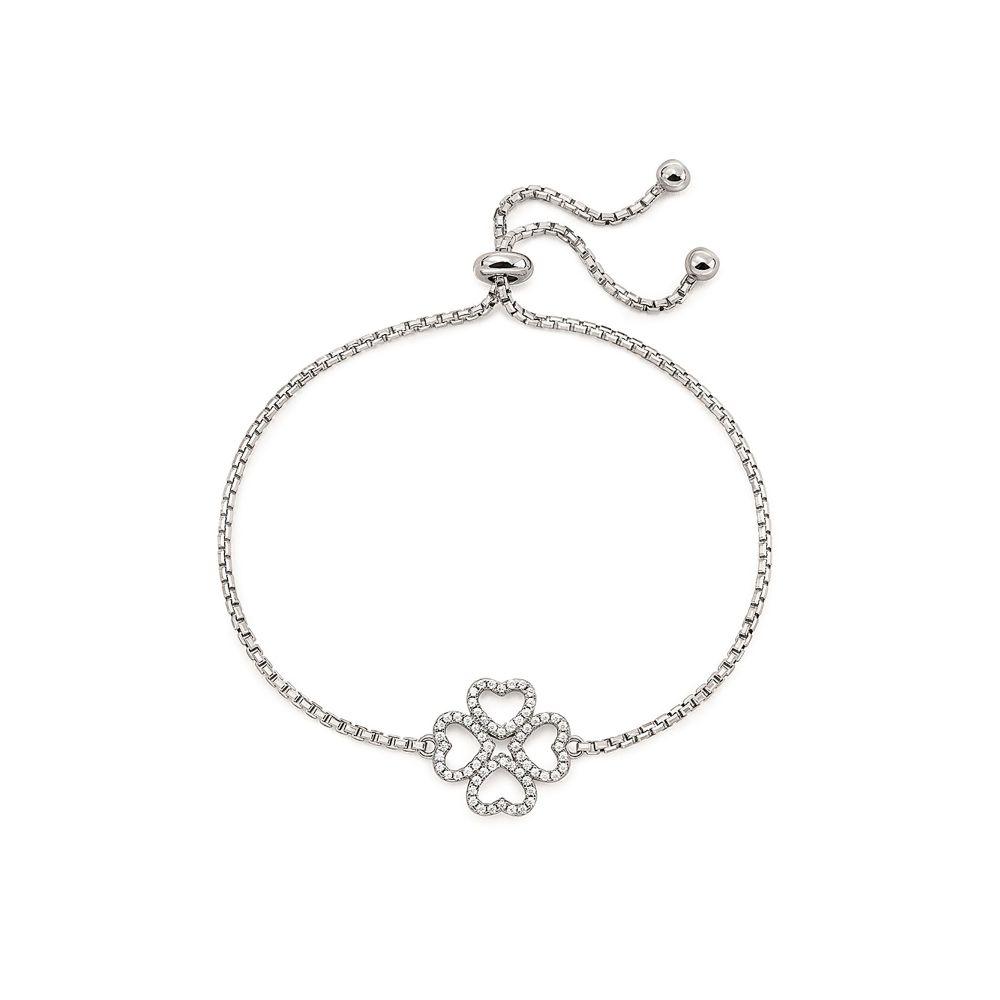 フォリフォリ Folli Follie レディース ジュエリー・アクセサリー ブレスレット【Miss Heart4heart Adjustable Bracelet】silver