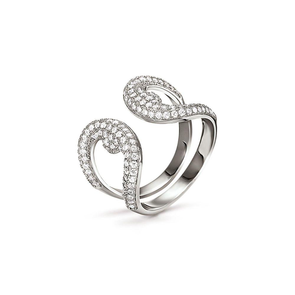 フォリフォリ Folli Follie レディース ジュエリー・アクセサリー 指輪・リング【Fashionably Silver Loop Ring】silver