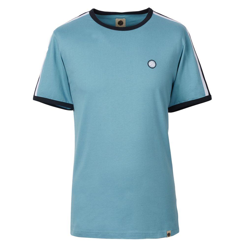 プリティー グリーン Pretty Green メンズ トップス Tシャツ【Contrast Panel T-shirt】blue