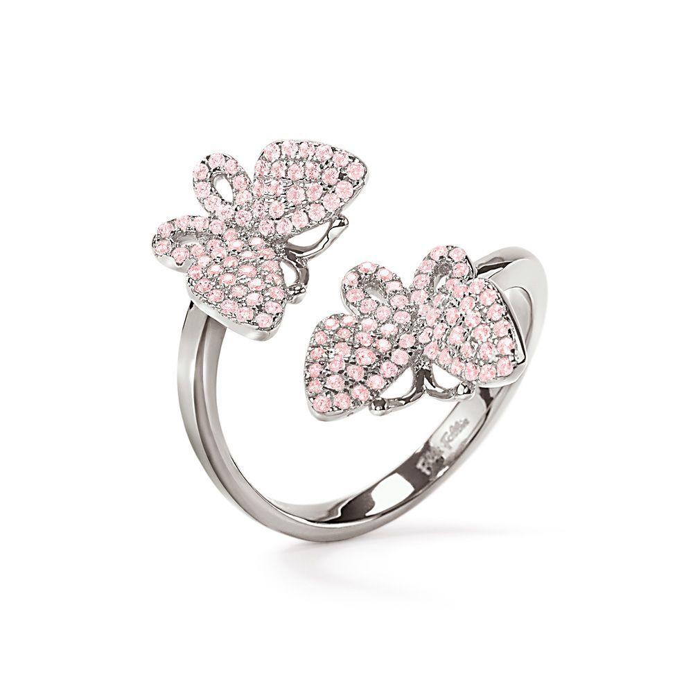 フォリフォリ Folli Follie レディース ジュエリー・アクセサリー 指輪・リング【Wonderfly Butterfly Double Ring】silver
