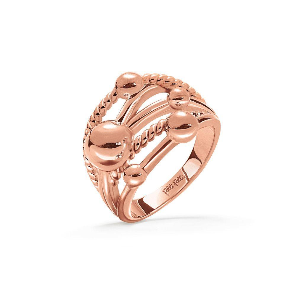 フォリフォリ Folli Follie レディース ジュエリー・アクセサリー 指輪・リング【Style Bonding Rose Gold Ring】rose gold