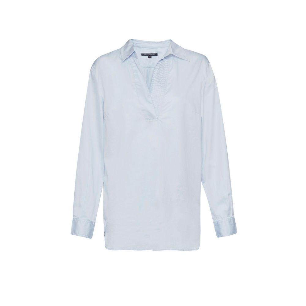 フレンチコネクション French Connection レディース トップス ブラウス・シャツ【Oldenburg Stitch V Neck Shirt】light blue