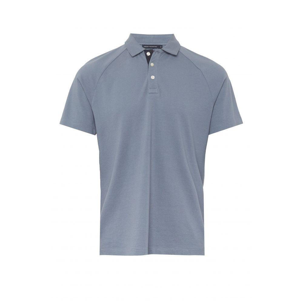 フレンチコネクション French Connection メンズ トップス ポロシャツ【Parched Pique Polo Shirt】blue