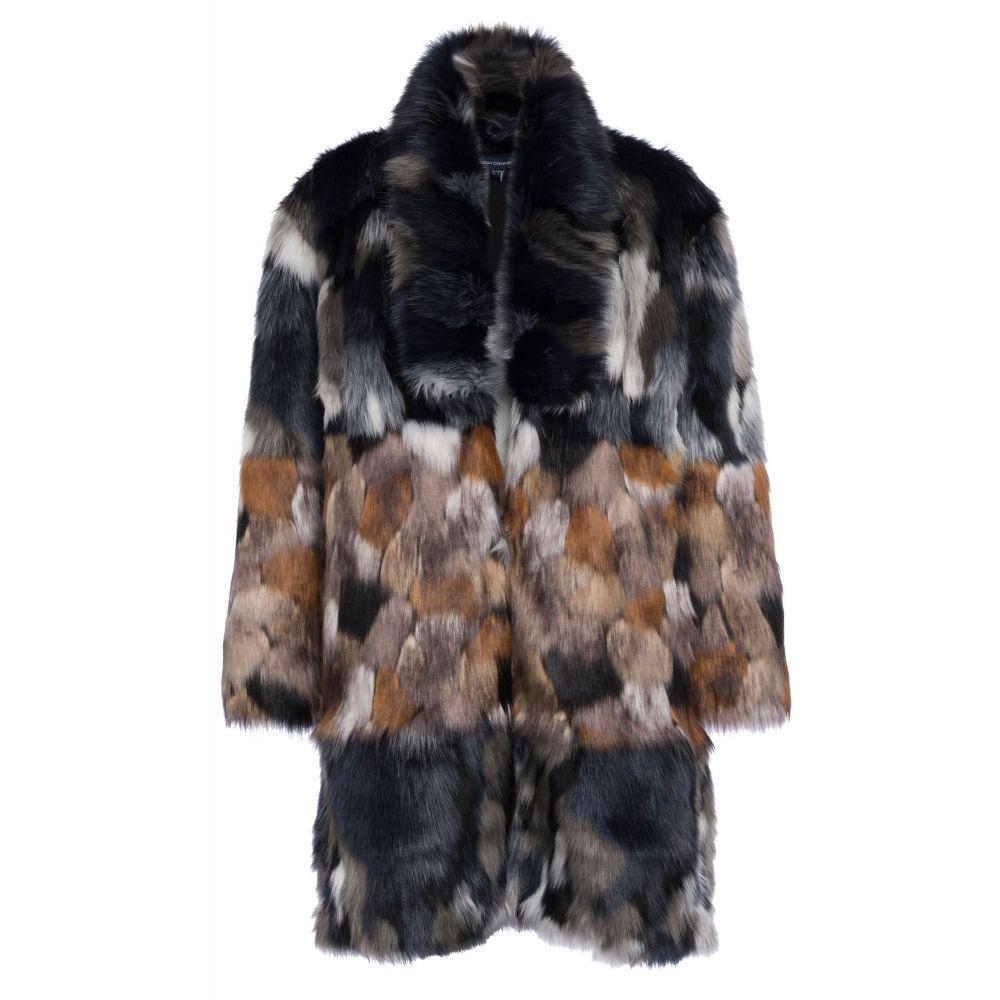 フレンチコネクション French Connection レディース アウター コート【Golda Faux Fur High Collar Coat】multi-coloured
