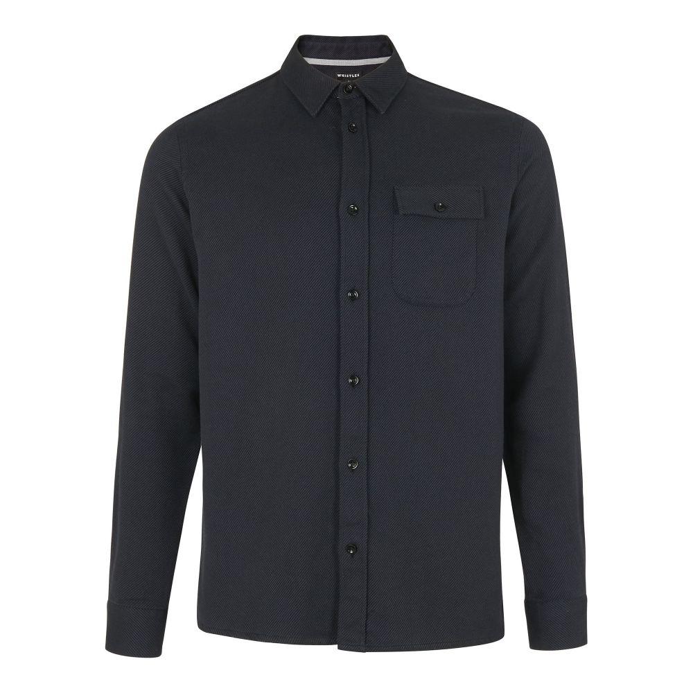 ホイッスルズ Whistles メンズ トップス シャツ【Heavy Twill Shirt】dark grey