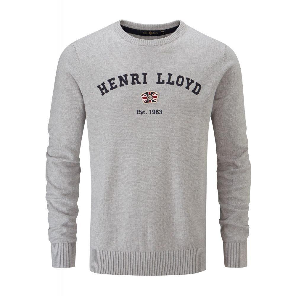ヘンリーロイド Henri Lloyd メンズ トップス ニット・セーター【Gell Club Regular Crew Neck Knit】grey marl