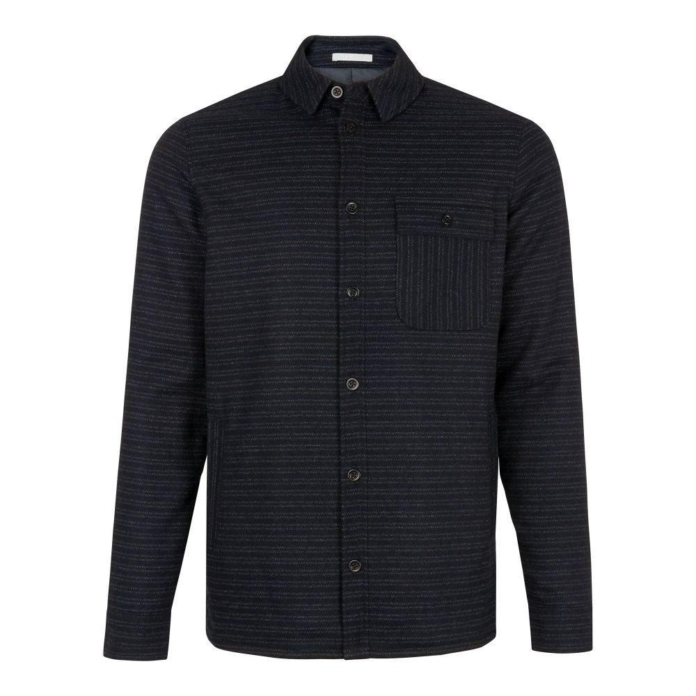 ホイッスルズ Whistles メンズ トップス シャツ【Striped Wool Overshirt】navy
