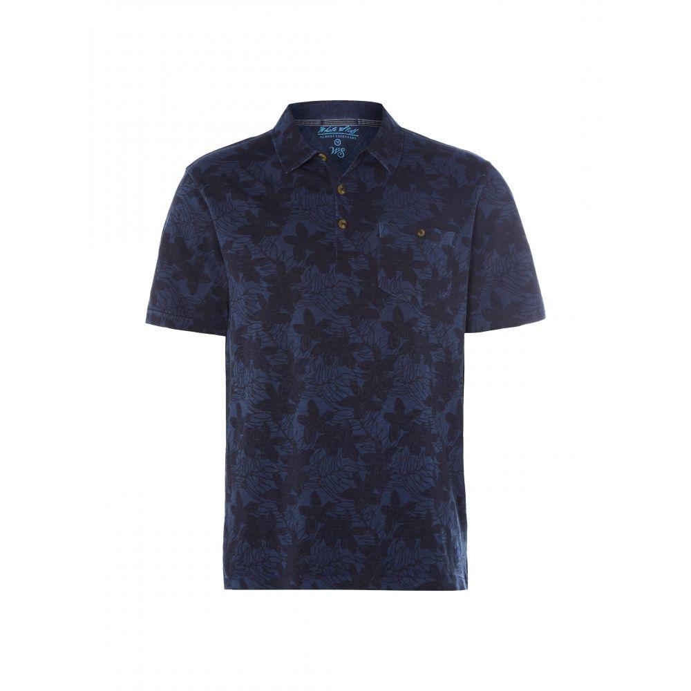 ホワイト スタッフ White Stuff メンズ トップス ポロシャツ【Pecan Pattern Polo】blue