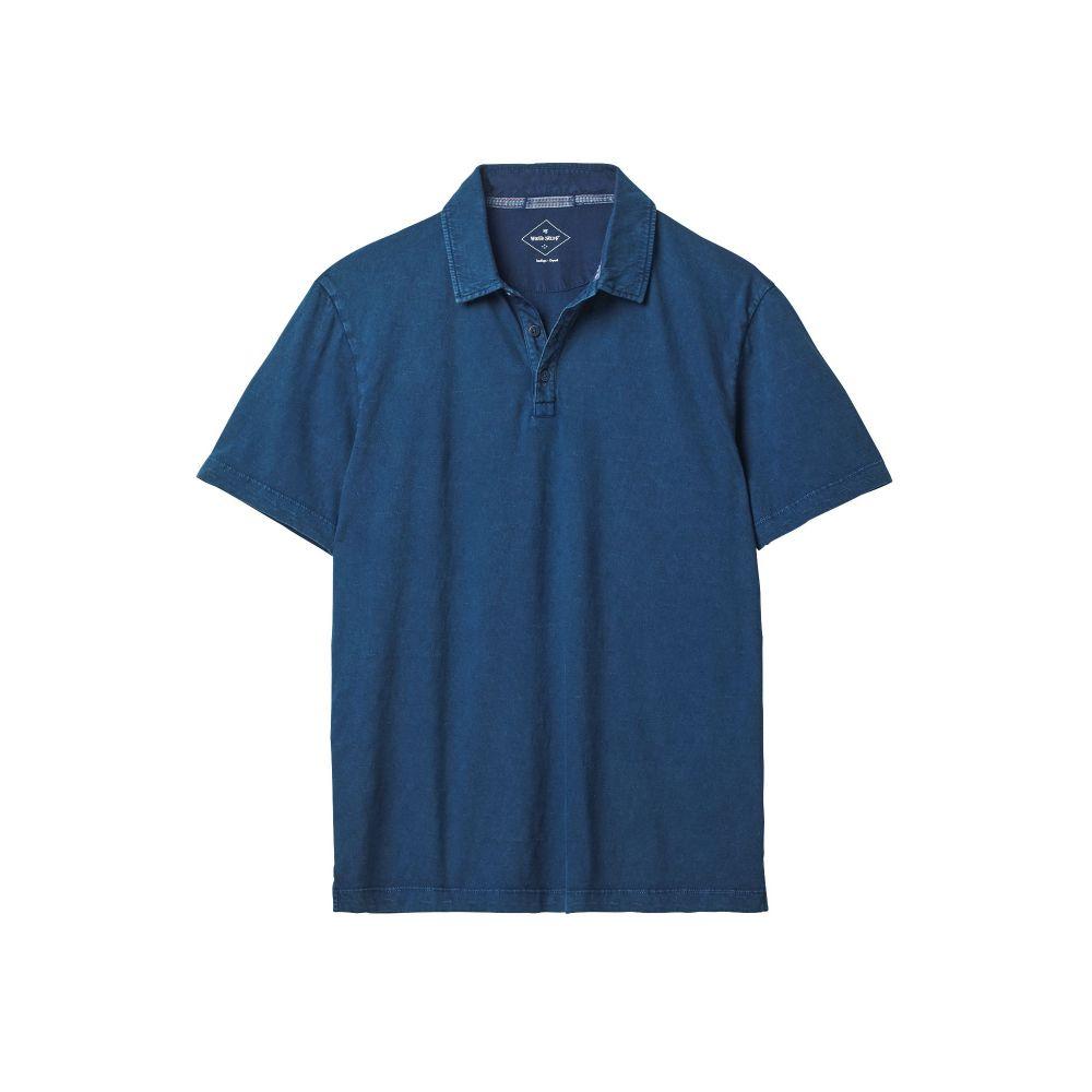 ホワイト スタッフ White Stuff メンズ トップス ポロシャツ【Textured Washed Polo】indigo