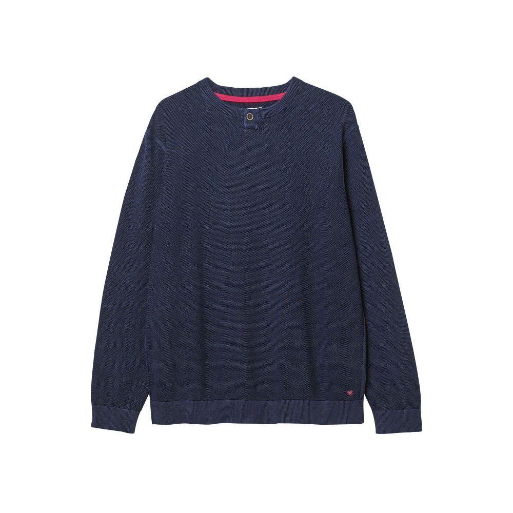 ホワイト スタッフ White Stuff メンズ トップス ニット・セーター【Montara Texture Notch Knit】indigo
