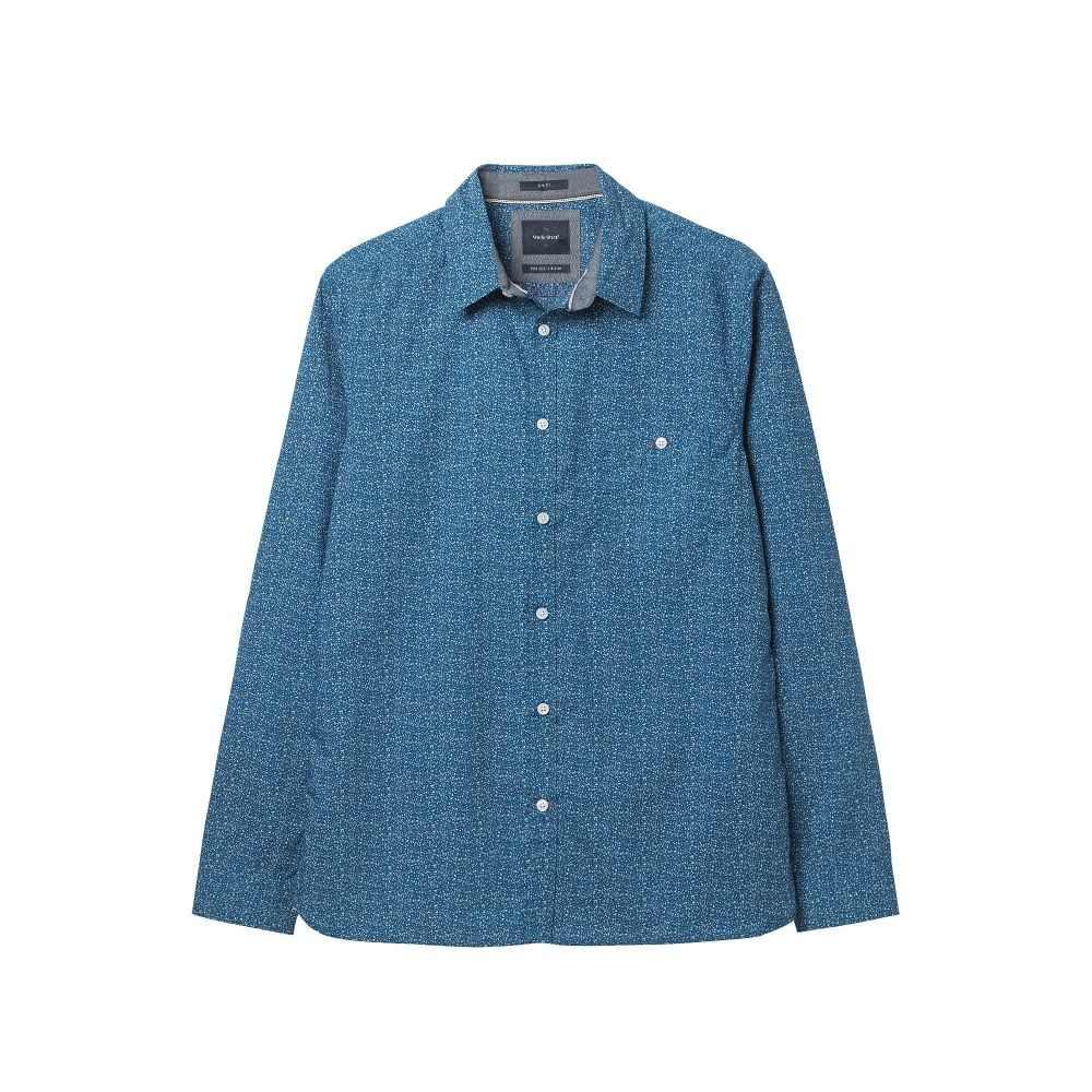 ホワイト スタッフ White Stuff メンズ トップス シャツ【Midgy Print Shirt】blue