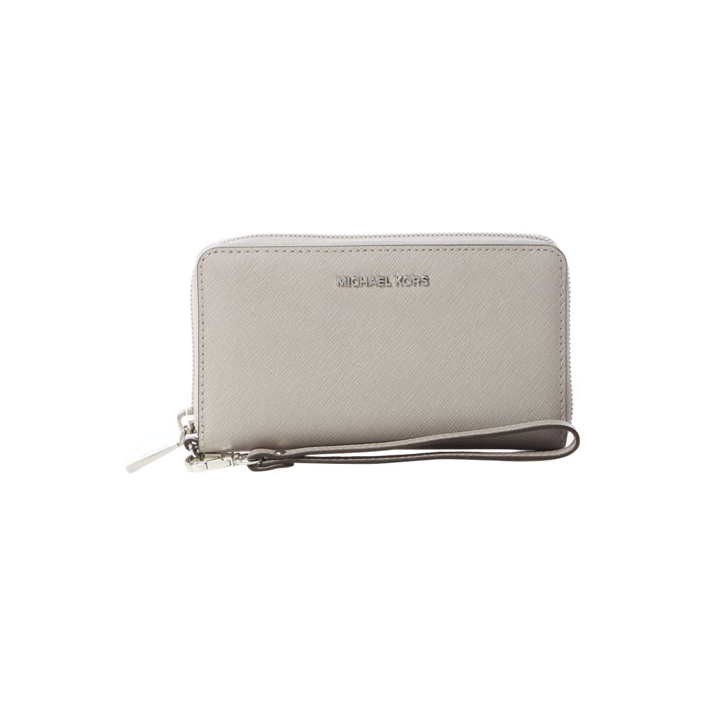 マイケル コース Michael Kors レディース スマホケース【Jetset Travel Function Phone Case】light grey