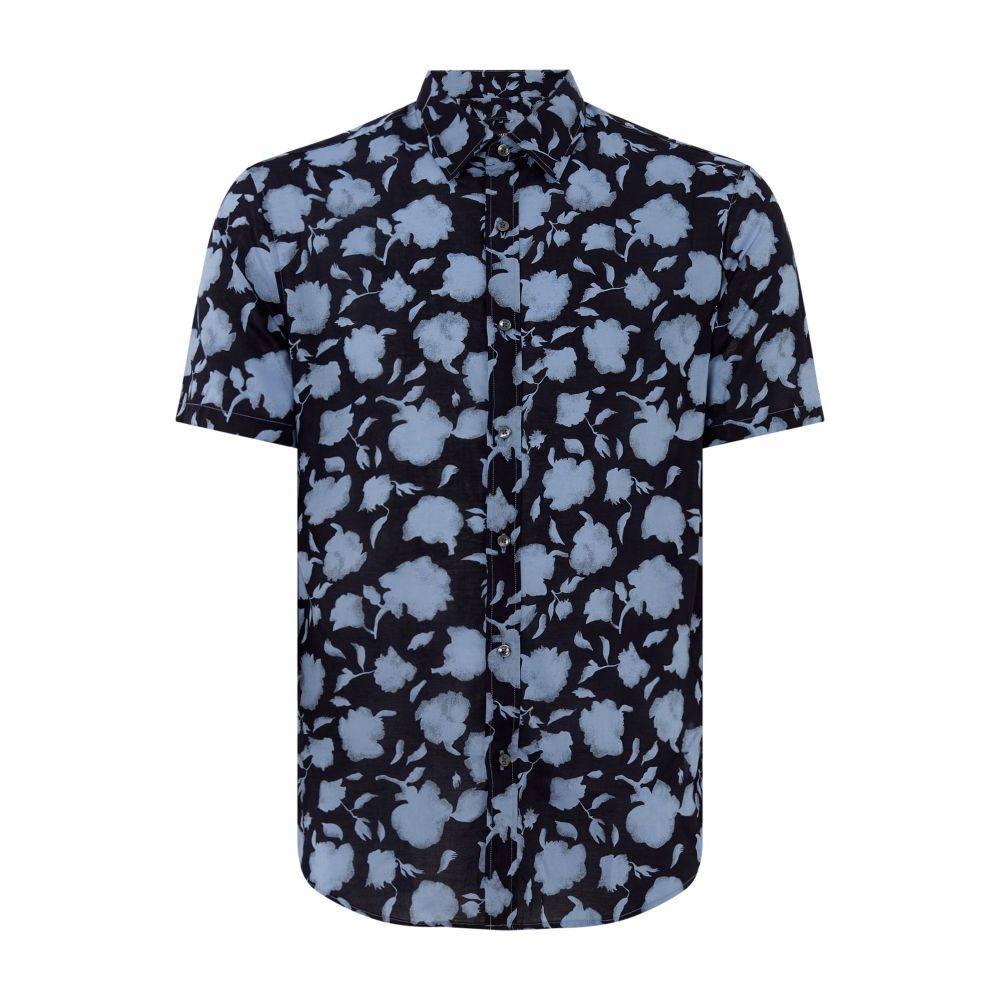マイケル コース Michael Kors メンズ トップス シャツ【Floral Print Shirt】navy