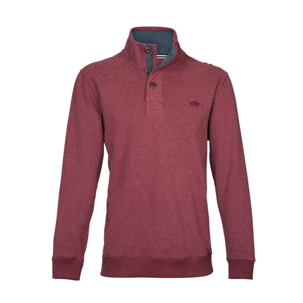 ライジング ブル Raging Bull メンズ トップス ニット・セーター【Button-up Jersey Sweater】red