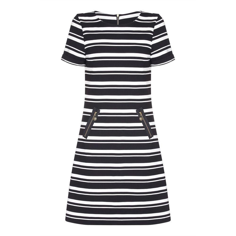 ユミ Yumi レディース トップス チュニック【Striped Tunic With Zipped Pockets】black