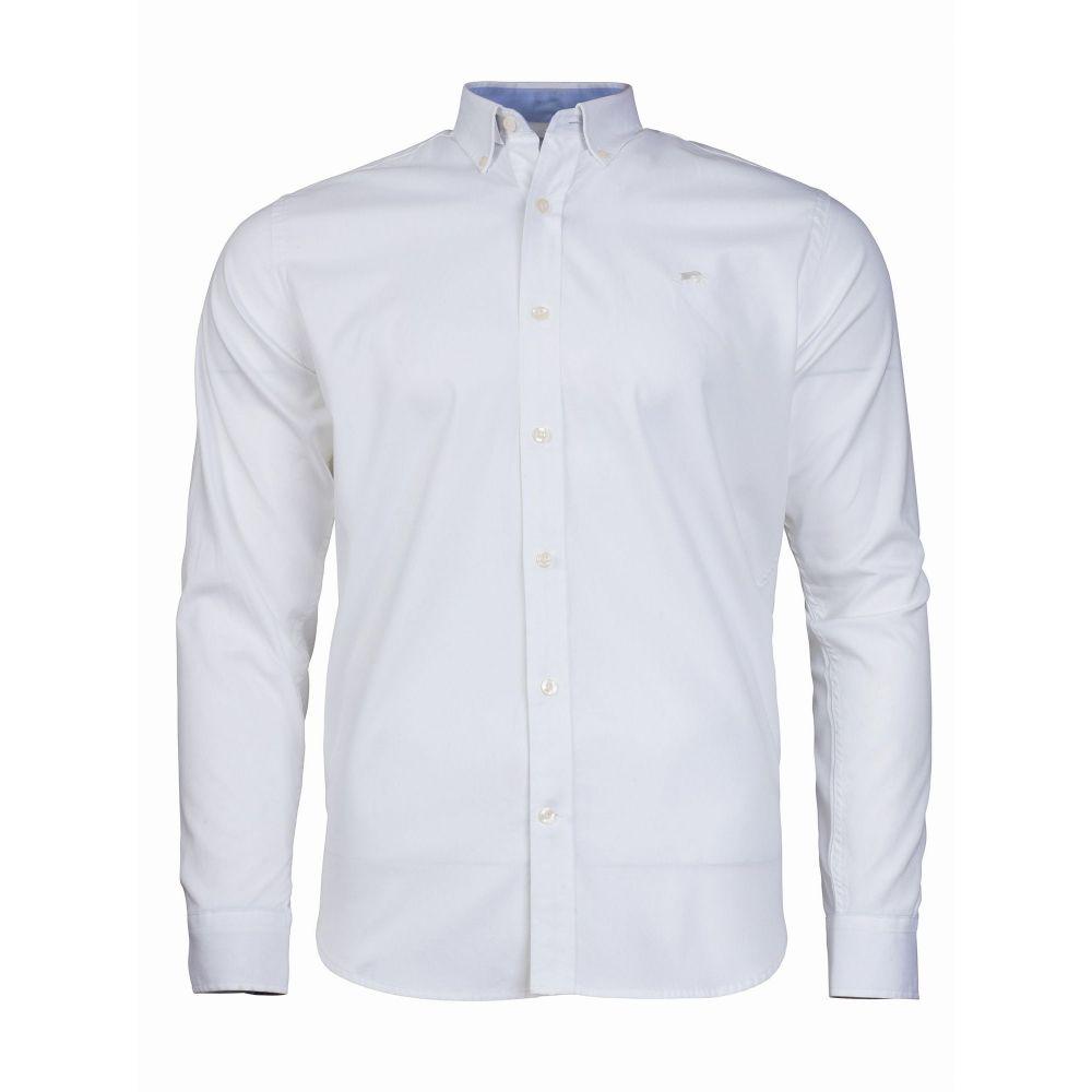 ライジング ブル Raging Bull メンズ トップス シャツ【Long Sleeve Pinpoint Oxford Shirt】white