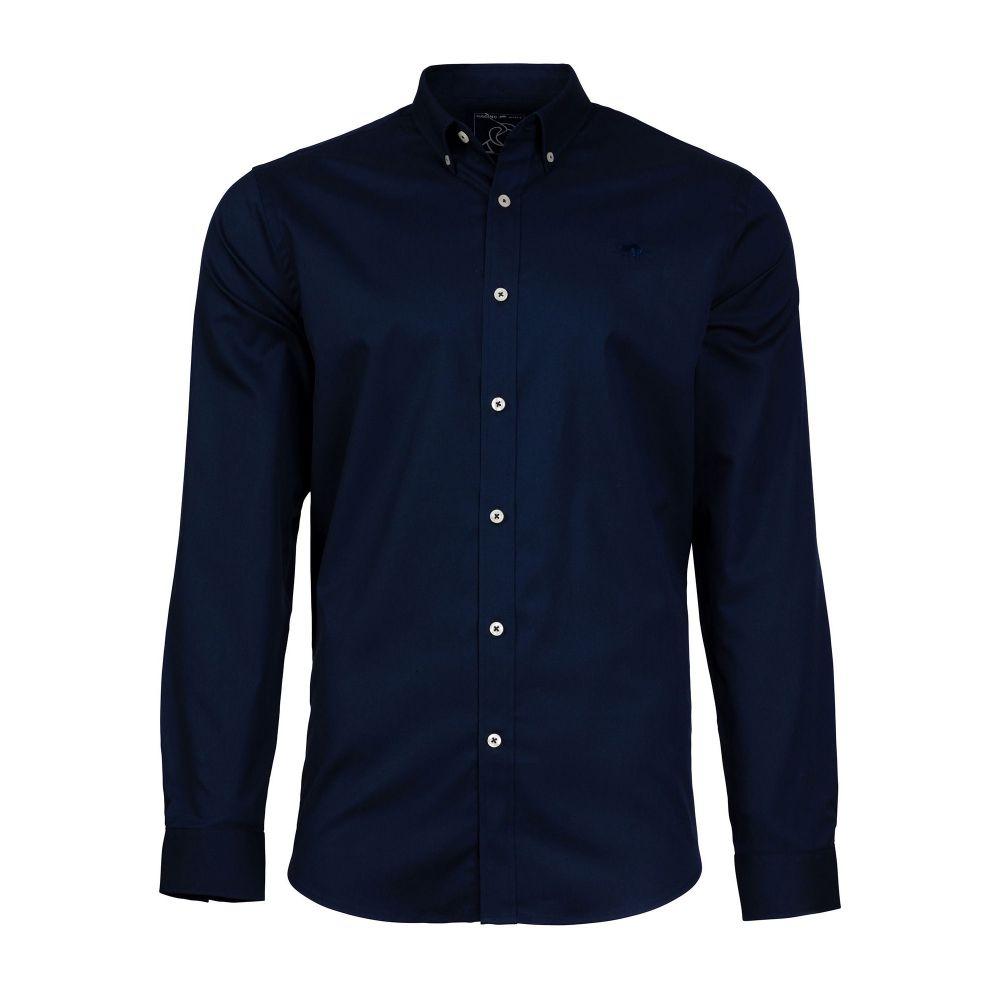 ライジング ブル Raging Bull メンズ トップス シャツ【Long Sleeve Pinpoint Oxford Shirt】navy
