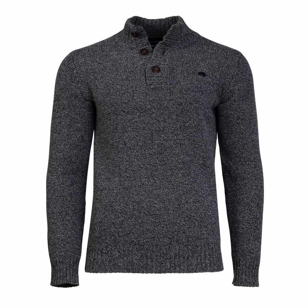 ライジング ブル Raging Bull メンズ トップス ニット・セーター【Button Up Heavy Knit】charcoal