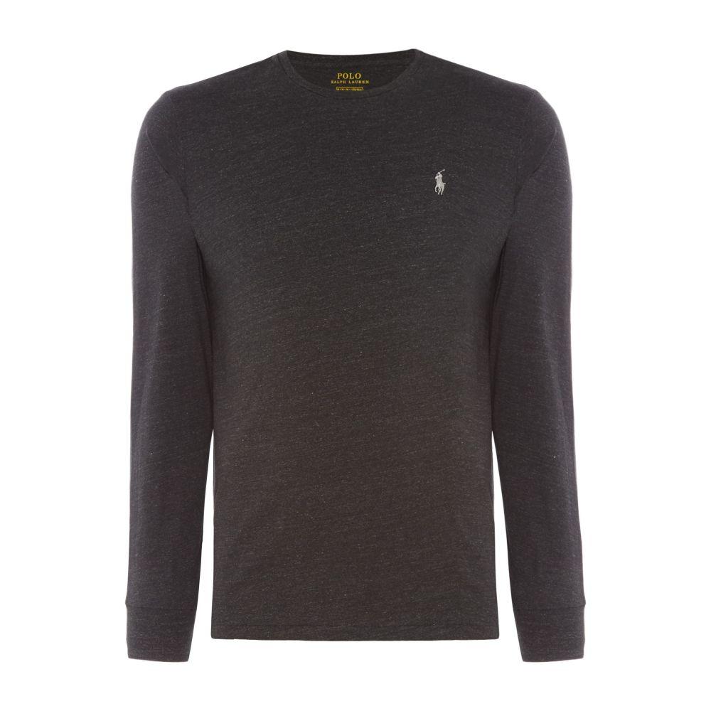 ラルフ ローレン Polo Ralph Lauren メンズ トップス Tシャツ【Long Sleeve Tee With Polo Player】black