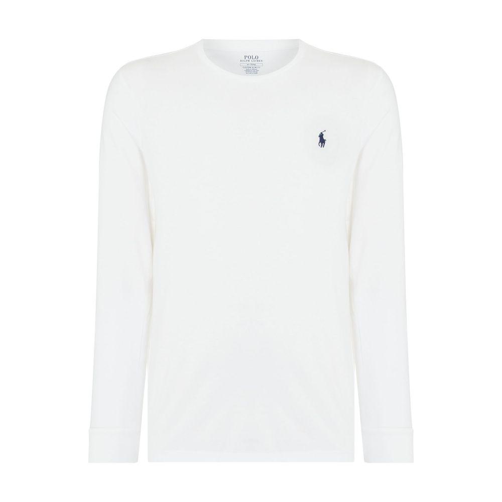 ラルフ ローレン Polo Ralph Lauren メンズ トップス Tシャツ【Long Sleeve Tee With Polo Player】white