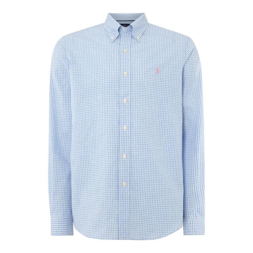 ラルフ ローレン Polo Ralph Lauren Golf メンズ トップス シャツ【Non Iron Gingham Shirt】blue