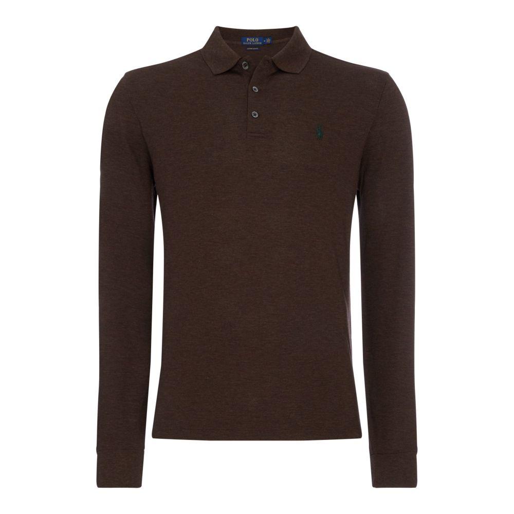 ラルフ ローレン Polo Ralph Lauren メンズ トップス ポロシャツ【Custom Fit Stretch Polo Shirt】medium brown