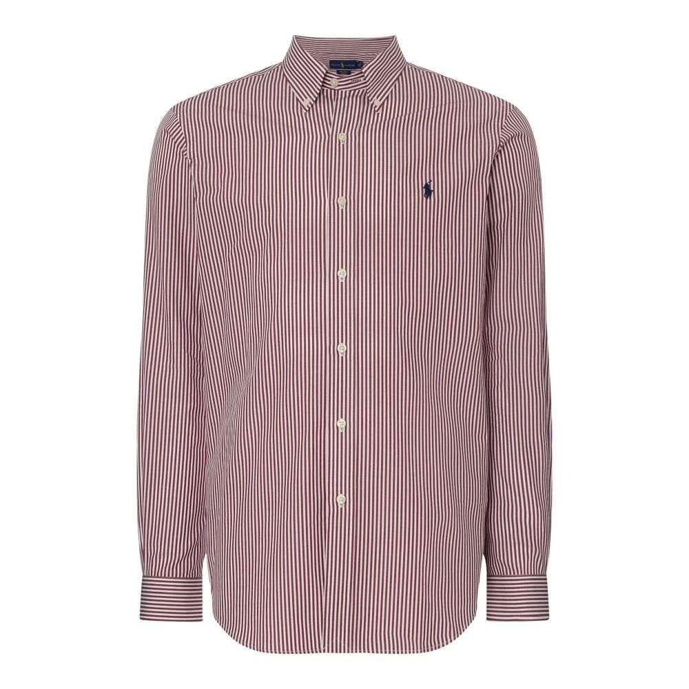 ラルフ ローレン Polo Ralph Lauren メンズ トップス シャツ【Custom Fit Striped Shirt】wine