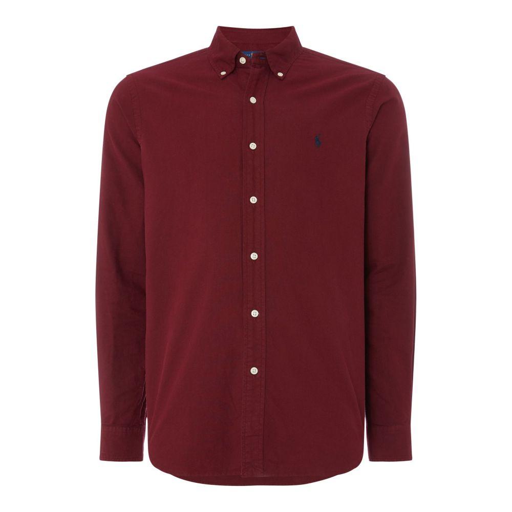 ラルフ ローレン Polo Ralph Lauren メンズ トップス シャツ【Custom Fit Garment Dyed Shirt】wine
