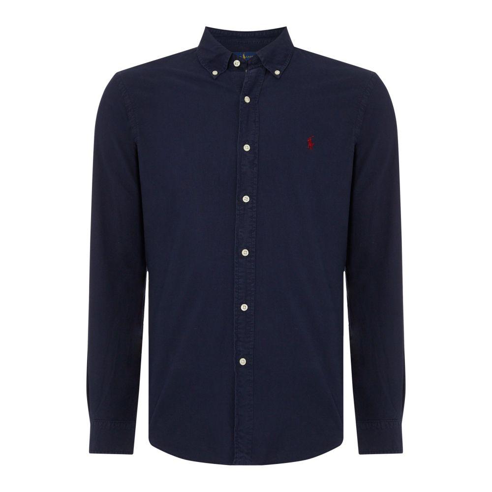 ラルフ ローレン Polo Ralph Lauren メンズ トップス シャツ【Slim Fit Garment Dyed Shirt】navy