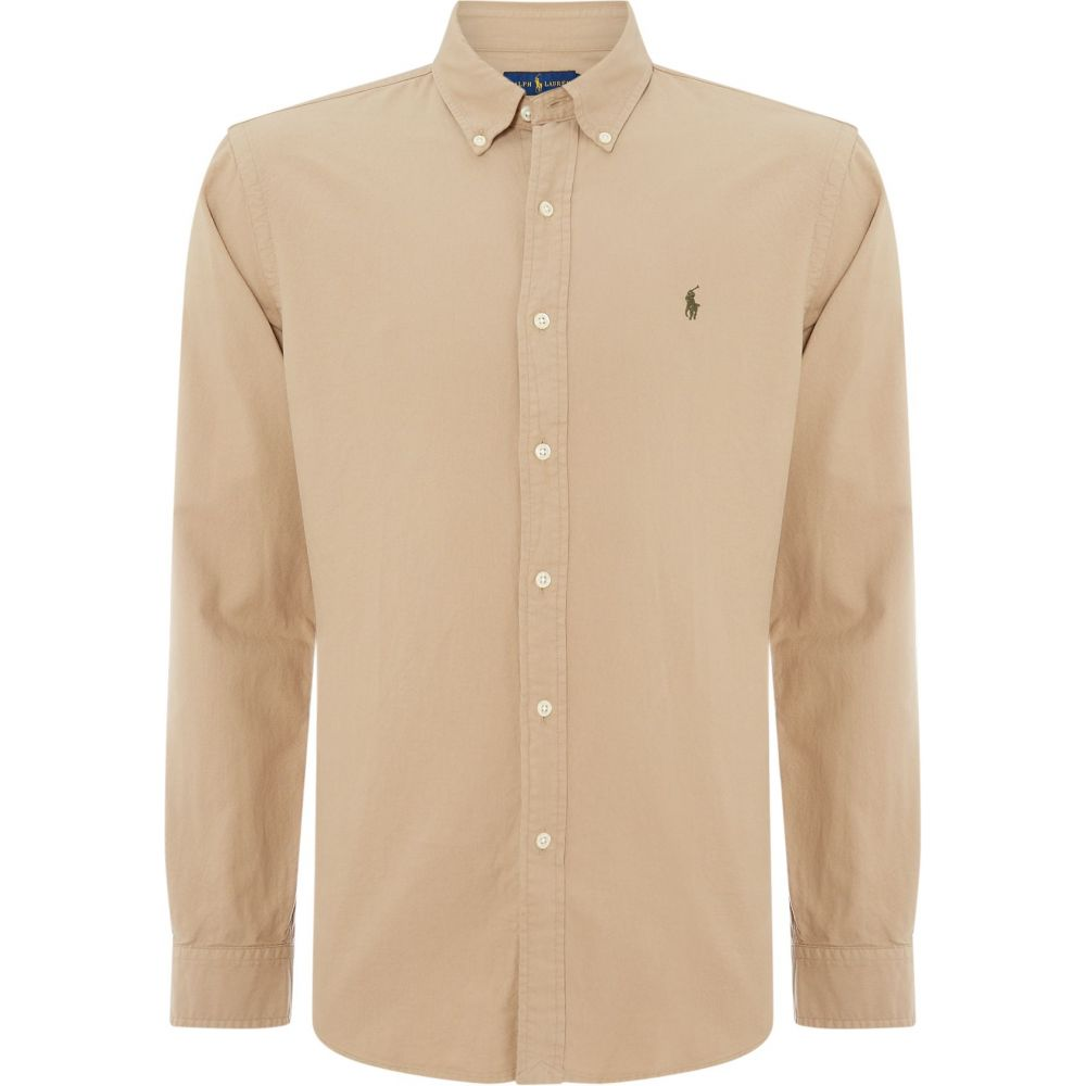 ラルフ ローレン Polo Ralph Lauren メンズ トップス シャツ【Slim Fit Garment Dyed Shirt】tan