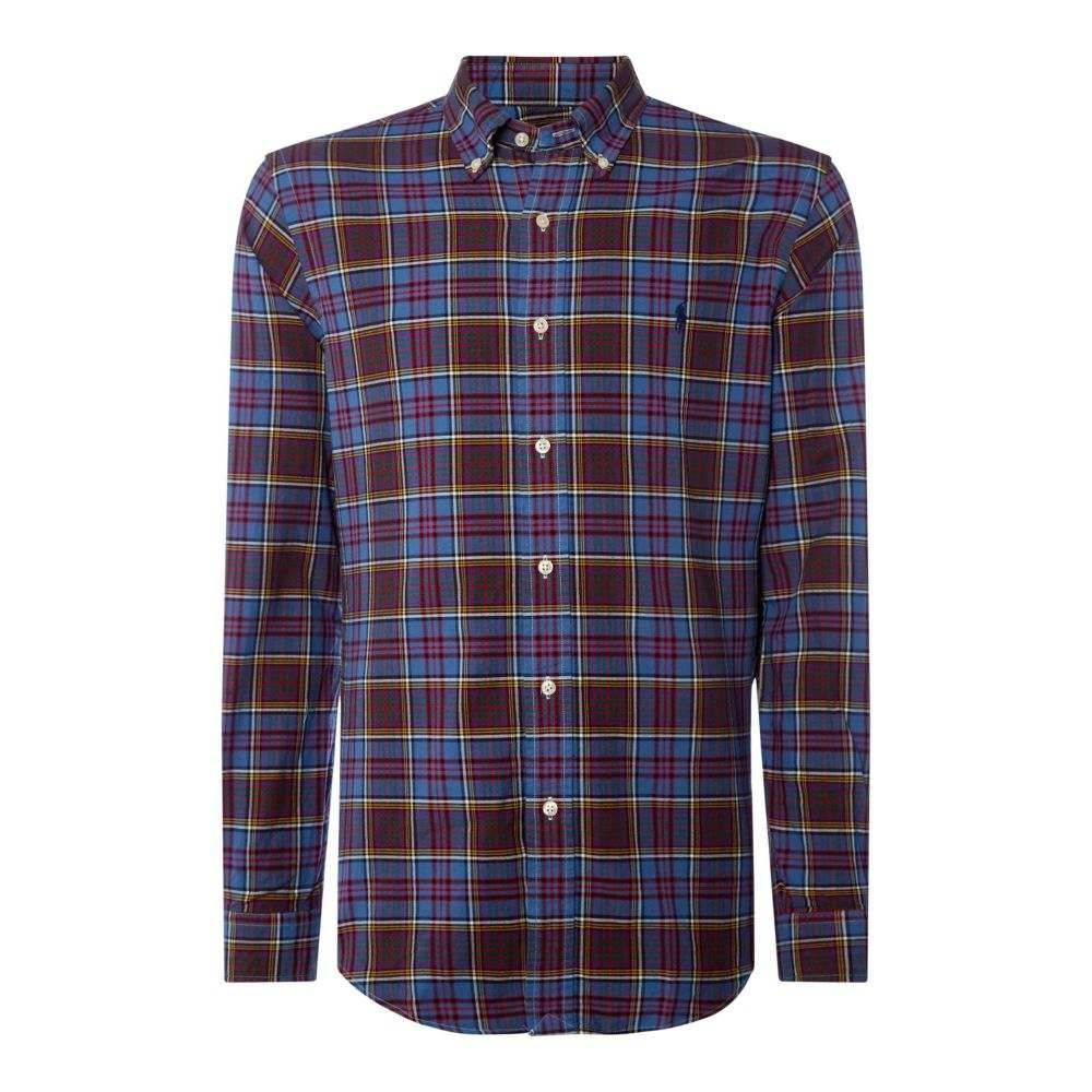 ラルフ ローレン Polo Ralph Lauren メンズ トップス シャツ【Autumnal Oxford Checked Shirt】dark blue