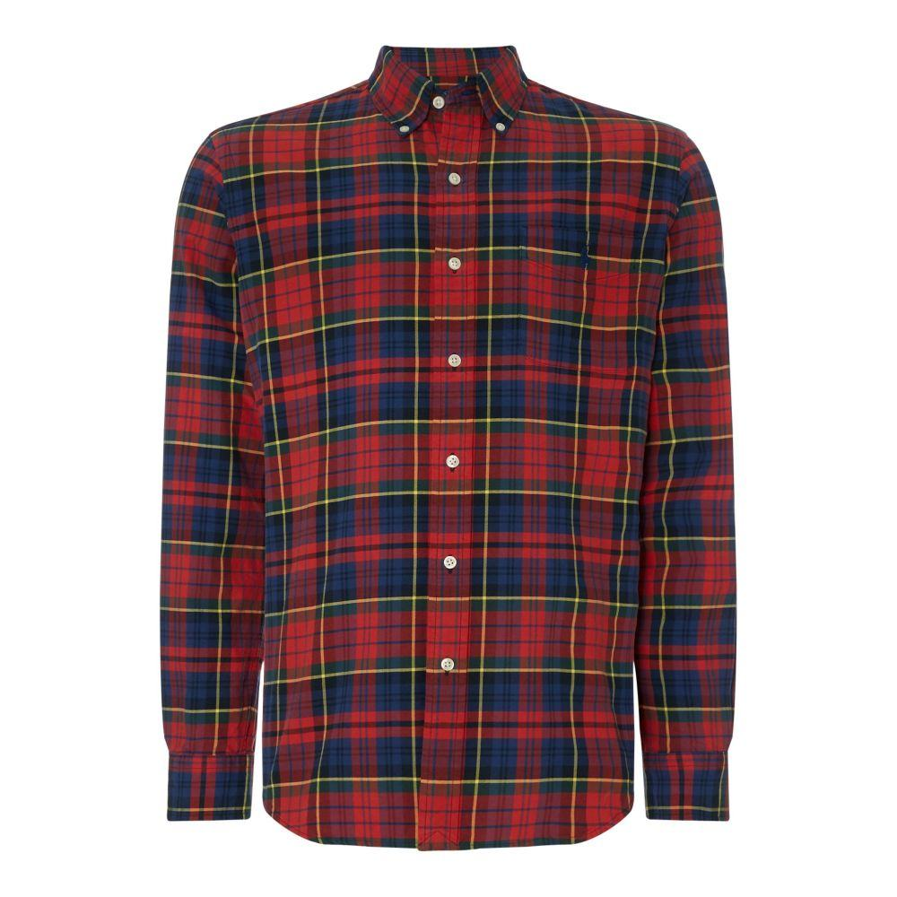 ラルフ ローレン Polo Ralph Lauren メンズ トップス シャツ【Slim Fit Washed Check Shirt】crimson