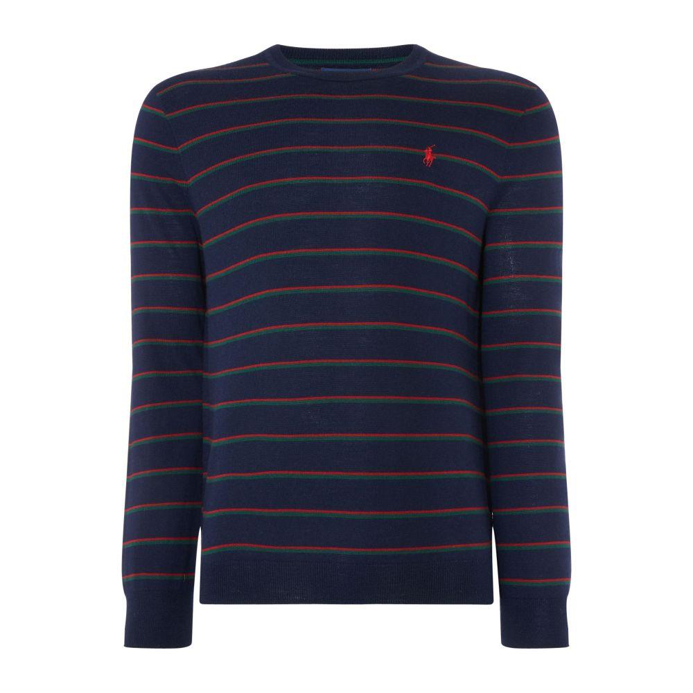 ラルフ ローレン Polo Ralph Lauren メンズ トップス ニット・セーター【Lambswool Merino Stripe Knit】navy