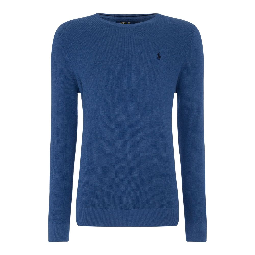 ラルフ ローレン Polo Ralph Lauren メンズ トップス ニット・セーター【Textured Crew Neck Knit】blue marl