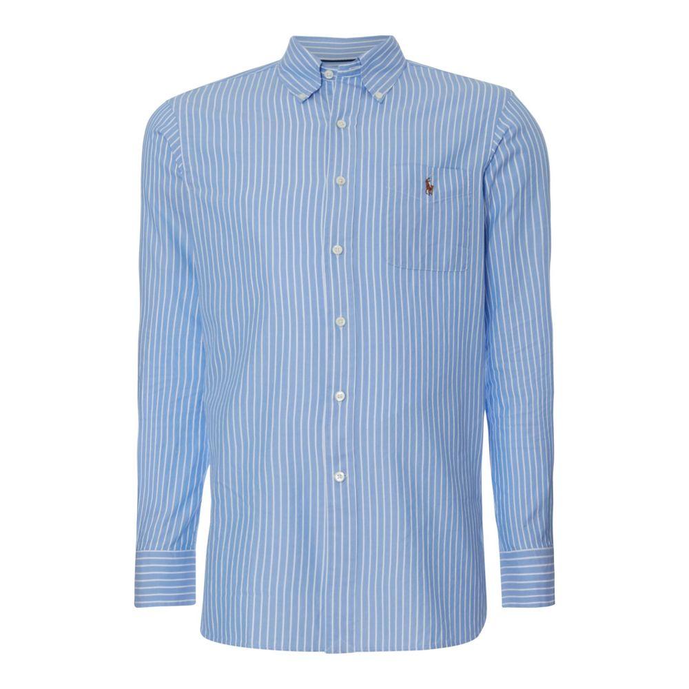 ラルフ ローレン Polo Ralph Lauren メンズ トップス シャツ【Slim Fit Striped Estate Collar Shirt】blue