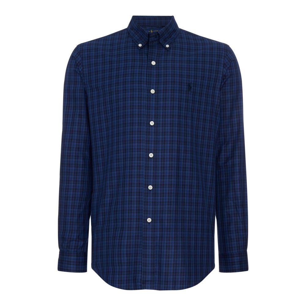 ラルフ ローレン Polo Ralph Lauren メンズ トップス シャツ【Silm Fit Tonal Checked Shirt】dark blue