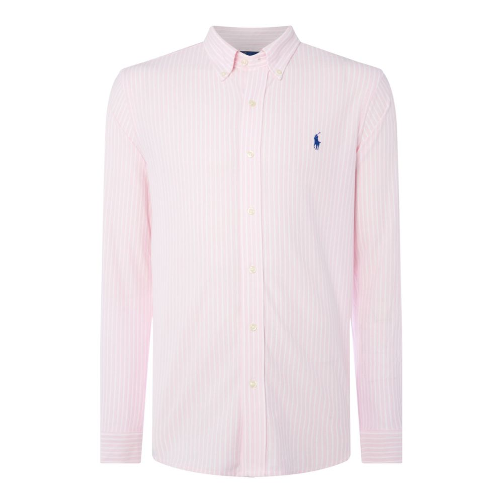 ラルフ ローレン Polo Ralph Lauren メンズ トップス シャツ【Oxford Striped Pique Shirt】light pink