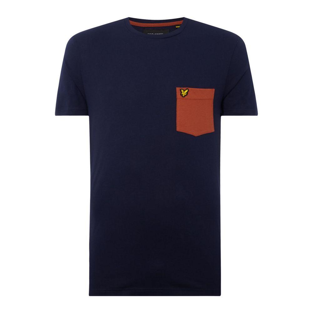 ライル アンド スコット Lyle and Scott メンズ トップス Tシャツ【Contrast Pocket T-shirt】navy
