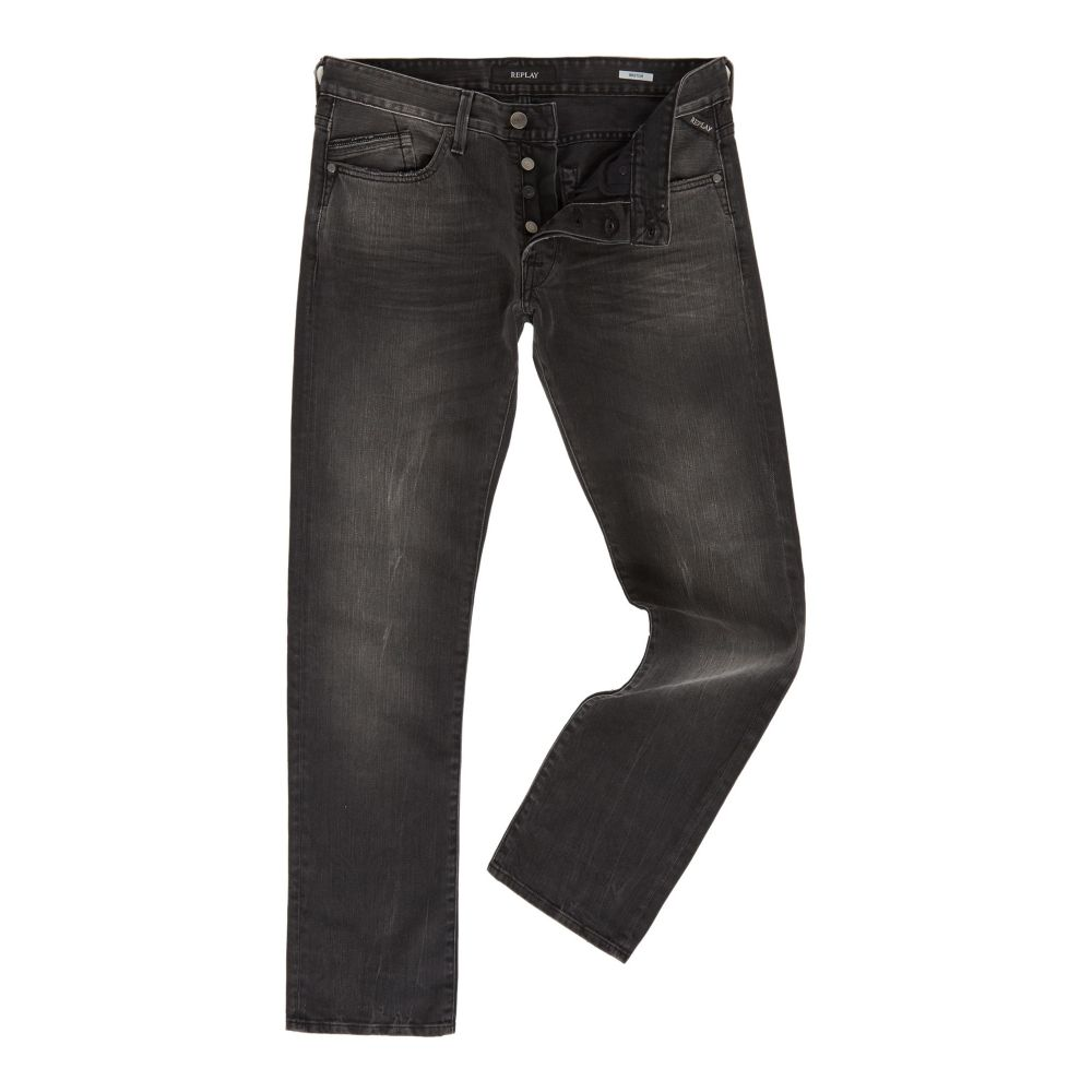 リプレイ Replay メンズ ボトムス・パンツ ジーンズ・デニム【Waitom Regular Slim Jeans】black