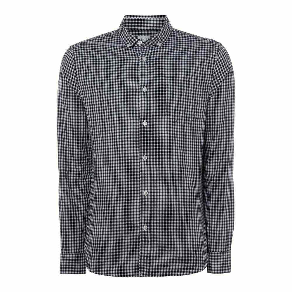リネアペレ Linea メンズ トップス シャツ【Bromley Herringbone Gingham Shirt】navy