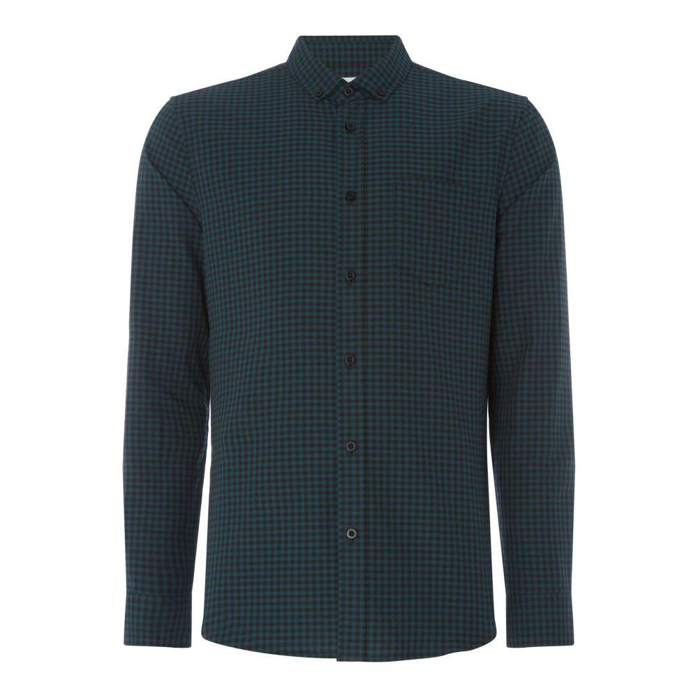 リネアペレ Linea メンズ トップス シャツ【Harper Gingham Oxford Shirt】emerald