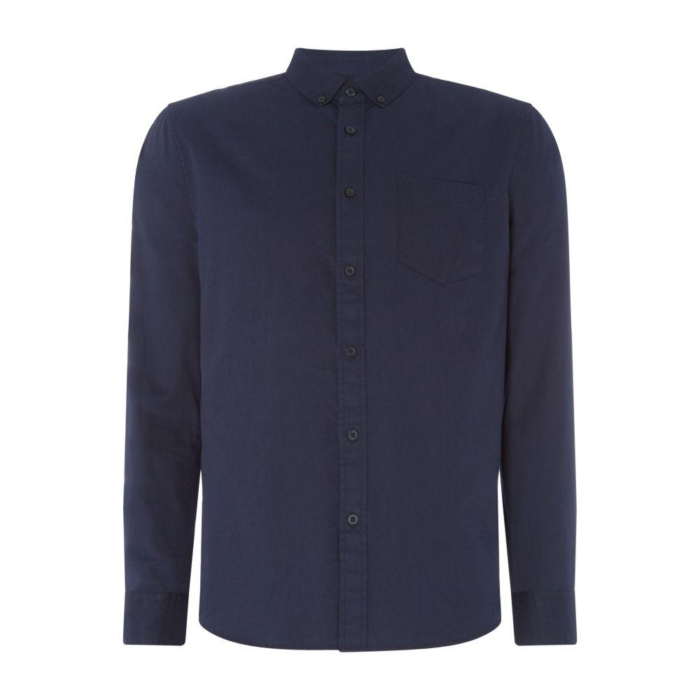 リネアペレ Linea メンズ トップス シャツ【Weber Cotton Twill Plain Shirt】navy