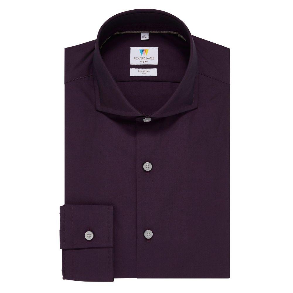リチャード ジェームス Richard James Mayfair メンズ トップス シャツ【Tonic Slim Fit Shirt】purple