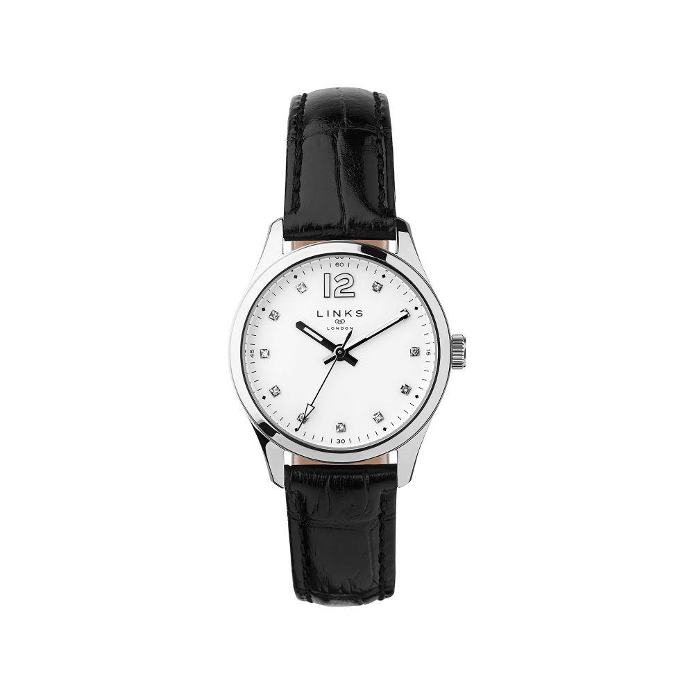 リンクス オブ ロンドン Links of London レディース 腕時計【Greenwich Noon Black Leather Watch】black