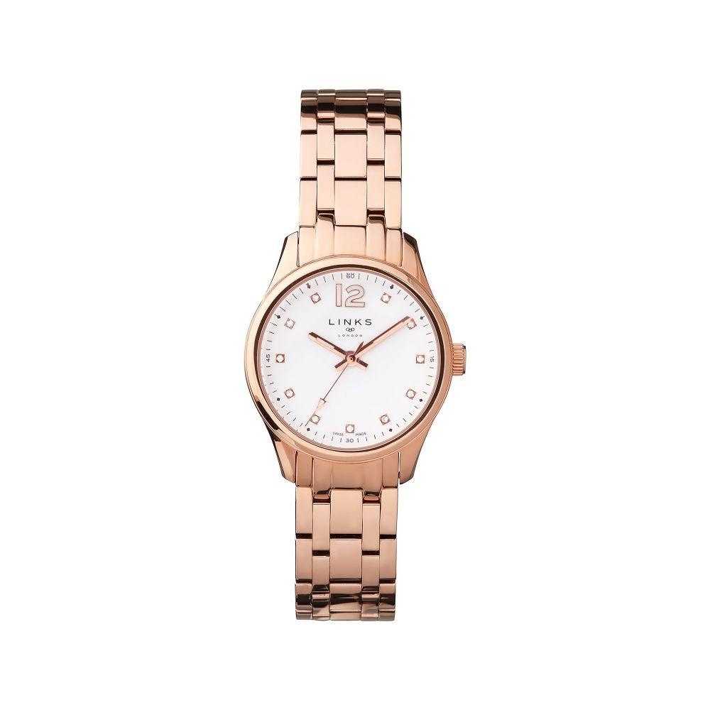 リンクス オブ ロンドン Links of London レディース 腕時計【Greenwich Noon Rose Gold Bracelet Watch】rose gold