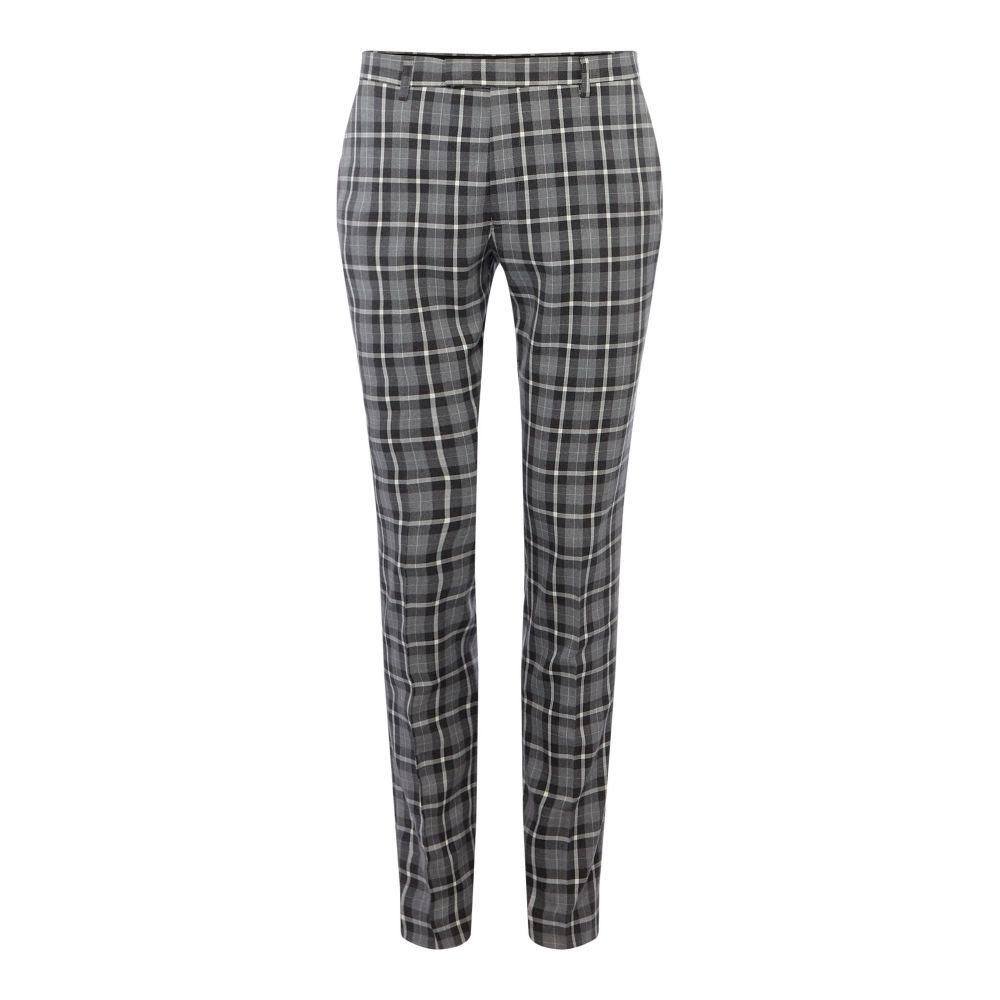 レーベルラボ Label Lab メンズ ボトムス・パンツ スラックス【Martini Skinny Fit Monochrome Check Suit Trouser】grey