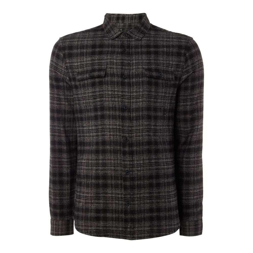 レーベルラボ Label Lab メンズ トップス シャツ【Mace Grindle Check Shirt】charcoal